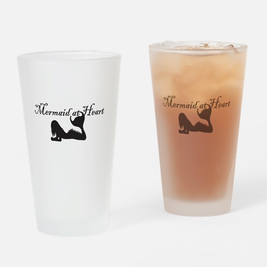 Mermaid at Heart (white) Drinking Glass