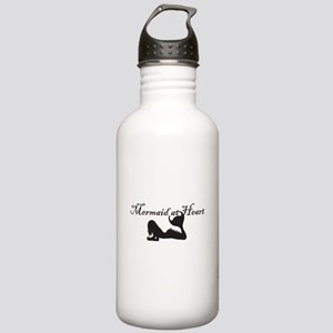 Mermaid at Heart (white) Stainless Water Bottle 1.
