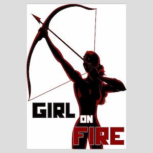 Katniss Girl on Fire Wall Art