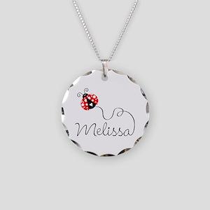 Ladybug Melissa Necklace Circle Charm