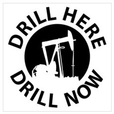 Drill Here Drill Now Wall Art Poster
