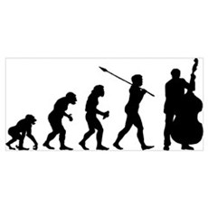 Double Bassist Player Wall Art Poster