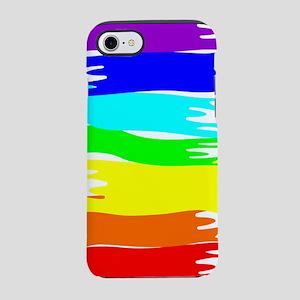 Pride rainbow paint splash iPhone 7 Tough Case