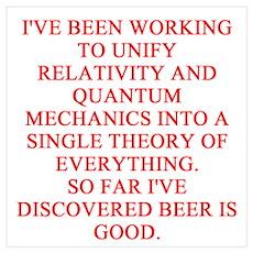 physics joke Wall Art Poster