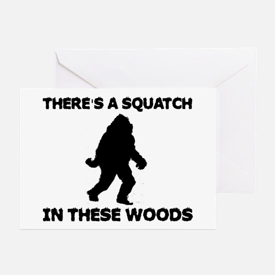 There's a Squatch in these wo Greeting Cards (Pk o