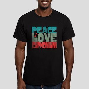 Peace Love Euphonium Men's Fitted T-Shirt (dark)