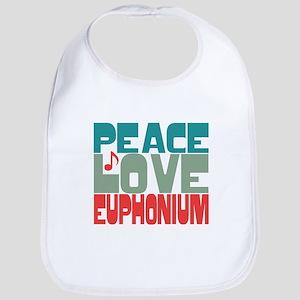 Peace Love Euphonium Bib