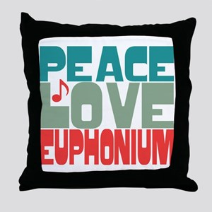 Peace Love Euphonium Throw Pillow