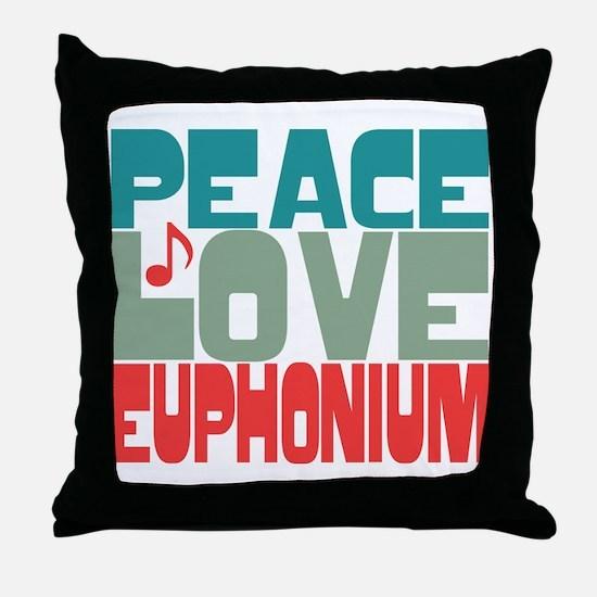 Peace Love Euphonium Throw Pillow