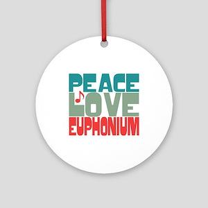 Peace Love Euphonium Ornament (Round)