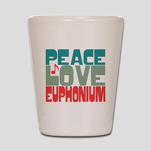 Peace Love Euphonium Shot Glass