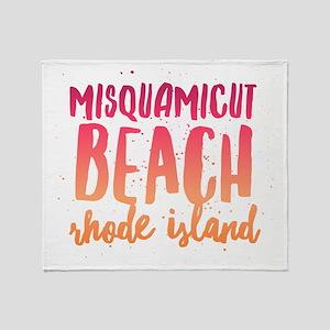 Misquamicut Beach Throw Blanket