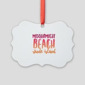 Misquamicut Beach Picture Ornament