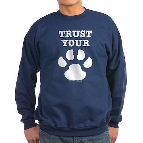 Trust Your Dog - Paw Print Sweatshirt (dark)