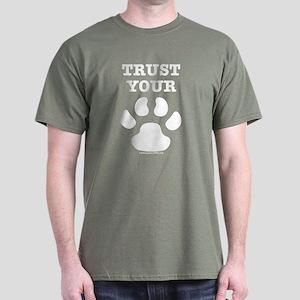 Trust Your Dog - Paw Print Dark T-Shirt