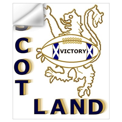 Scotland Rugby Designs Wall Art Wall Decal