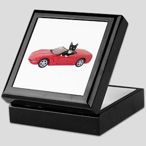 Cat in Red Car Keepsake Box