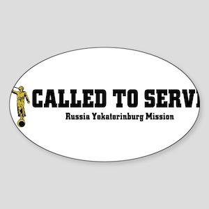 Russia Yekaterinburg LDS Miss Sticker (Oval)