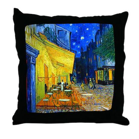 Van Gogh - Cafe Terrace Throw Pillow