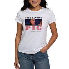 """""""Free Ranging Pig"""" Women's T-Shirt"""