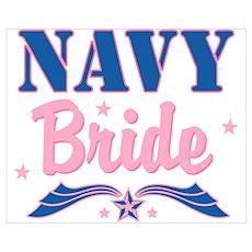 Star Navy Bride Wall Art Poster
