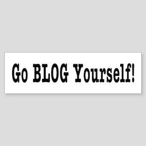 Go BLOG Yourself! Bumper Sticker