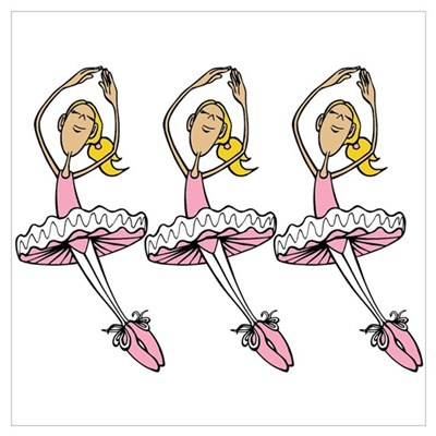 Ballerinas Wall Art Poster