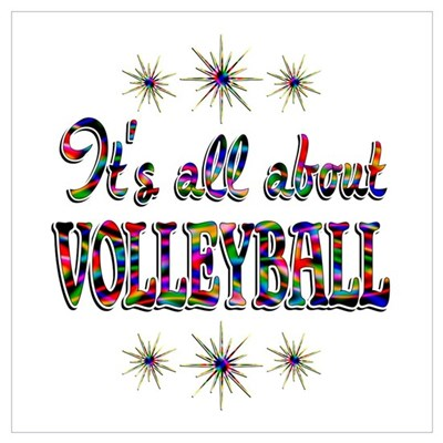About Volleyball Wall Art Poster