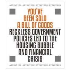 Reckless Government Policies Wall Art Framed Print