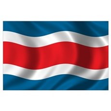 Flag of Costa Rica Wall Art Poster