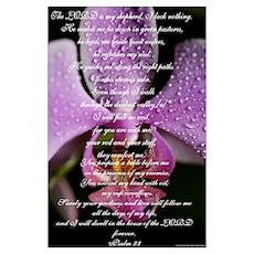 Psalm 23rd Wall Art Poster
