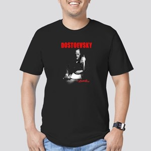 Red Dostoevsky Candlelight Men's Fitted T-Shirt (d
