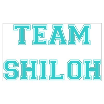 Team Shiloh Teal Wall Art Poster