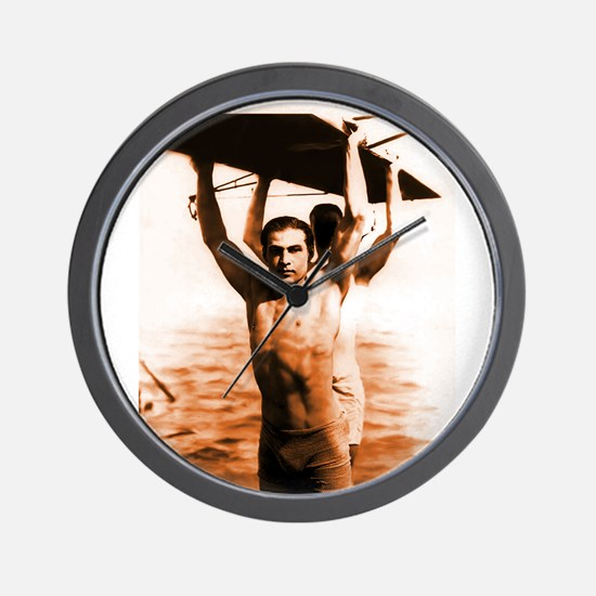 Rudolph Valentino Swimsuit Pi Wall Clock