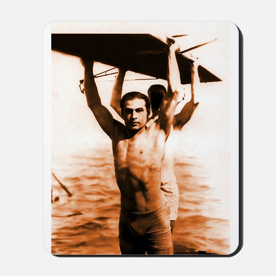 Rudolph Valentino Swimsuit Pi Mousepad