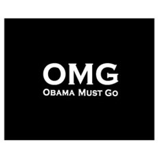 OMG Obama Must Go Wall Art Framed Print