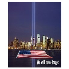 9-11 We Will Never Forget Wall Art Framed Print