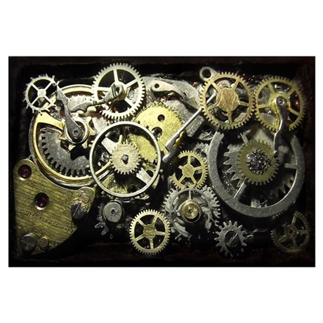 SteamPunk Gears Wall Art