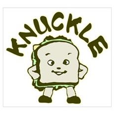 Funny Knuckle Sandwich Wall Art Poster