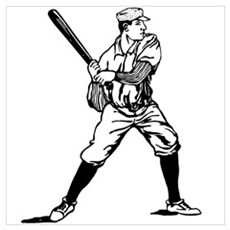 1890's Baseball Batter Wall Art Poster