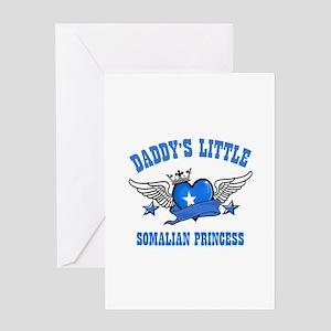 Daddy's Little Somalian Princess Greeting Card