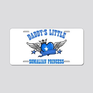 Daddy's Little Somalian Princess Aluminum License