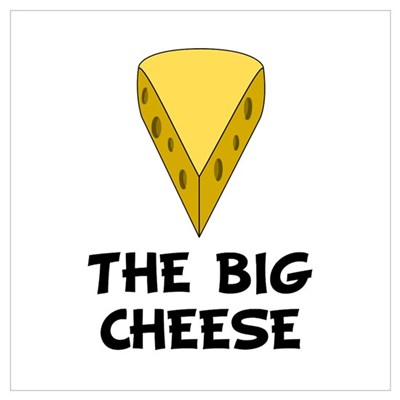 Big Cheese Wall Art Framed Print