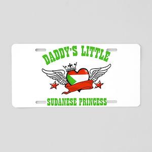 Daddy's little Sudanese Princess Aluminum License