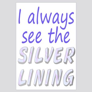 Positive See Silver Lining Wall Art