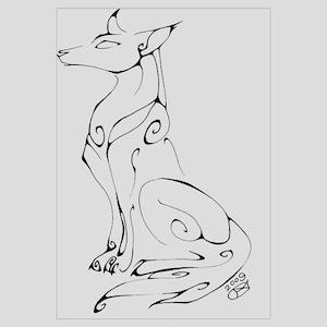Inkblot Dog Wall Art