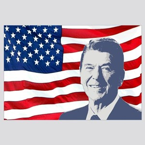 Reagan and Flag Wall Art