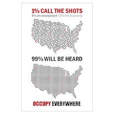 99 percent Wall Art Poster