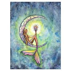 Mermaid Moon Wall Art Poster