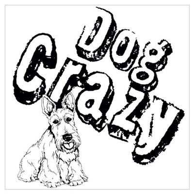 Dog Crazy Wall Art Framed Print
